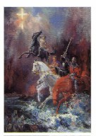 A mailing miniature, The Four Horsemen by Marilyn Todd-Daniels is a striking original picture of Christian Equine art.