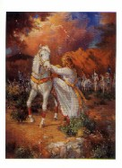 I�ll Rise Again, a mailing miniature original picture of Christian Equine art by Marilyn Todd-Daniels.